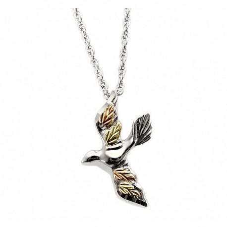 Black hills gold sterling silver dove pendant necklace black hills gold sterling silver dove pendant necklace mozeypictures Images