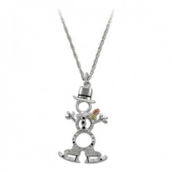 Landstrom's Black Hills Gold Sterling Silver Snowman Pendant with Necklace