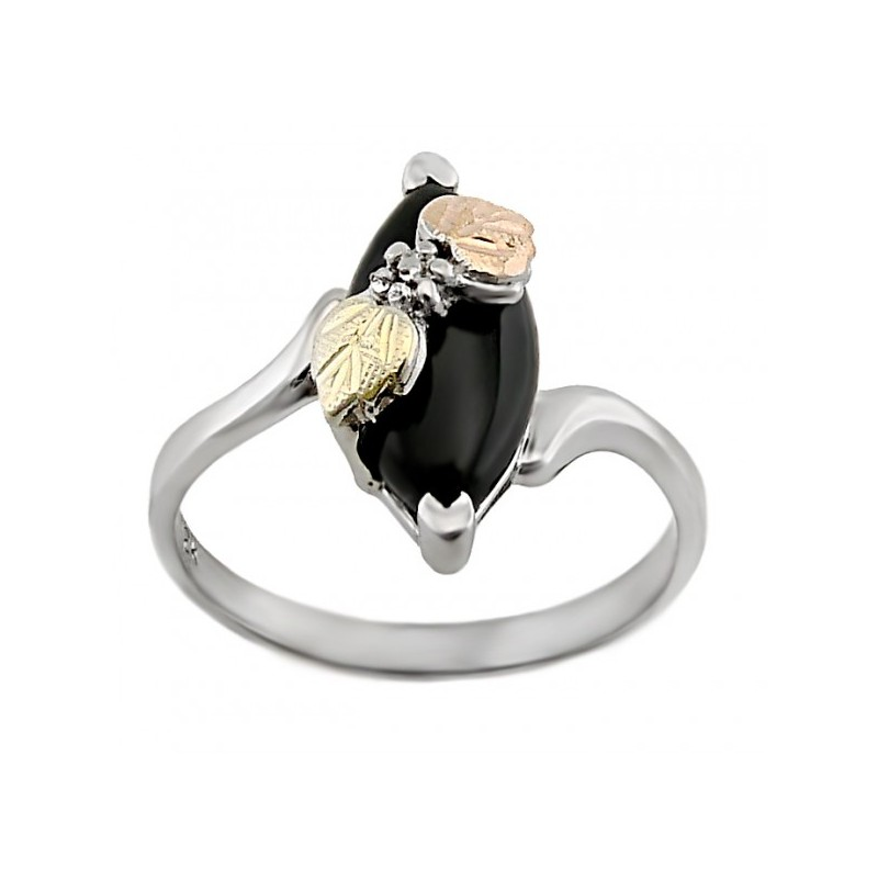 Sterling Silver Black Onyx Ladies Ring
